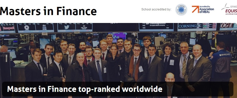 masters in finance top ranked